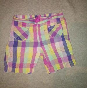 Girls Designer Plad Shorts